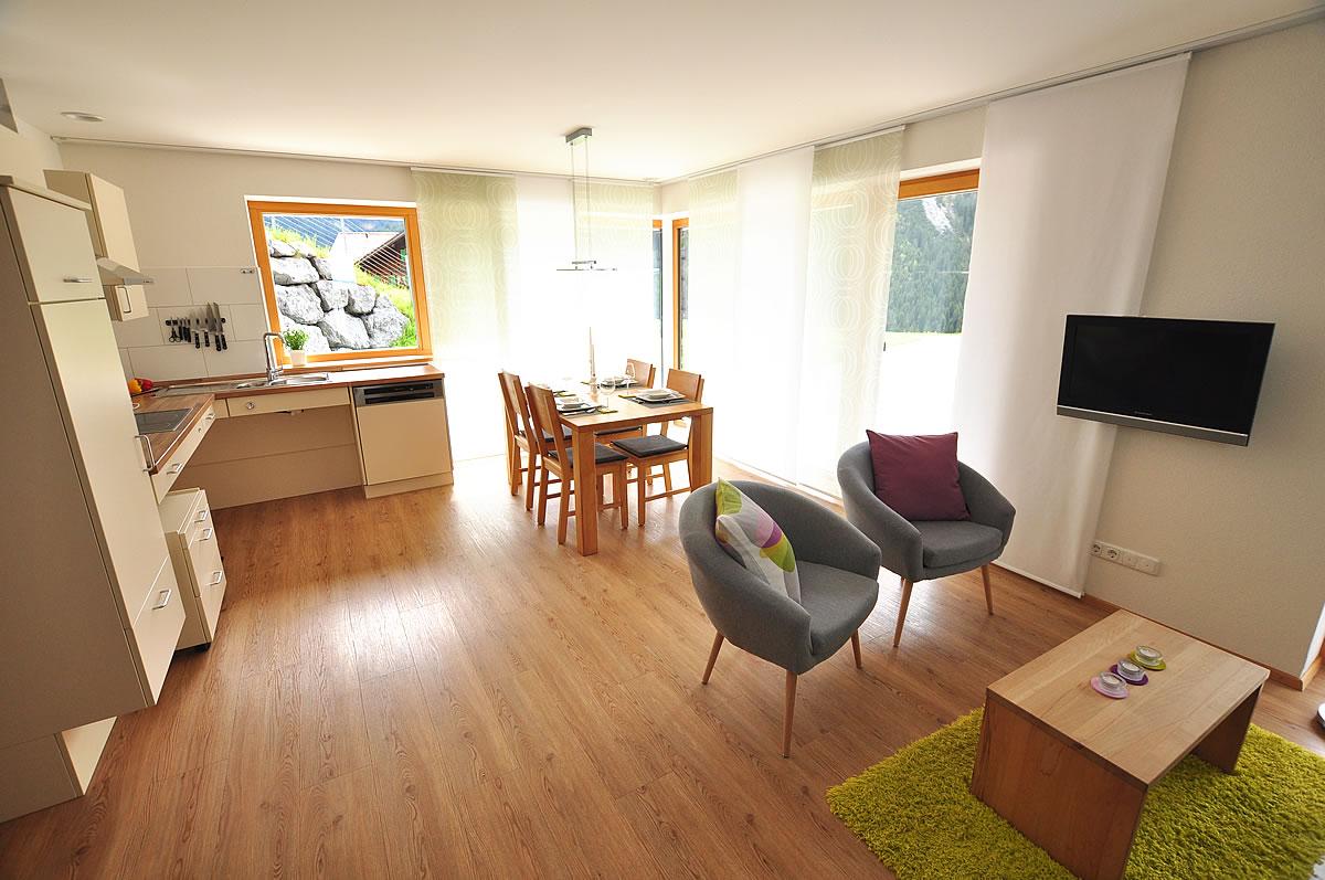 Ganzer Wohnraum der Wohnung